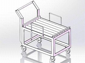 加工线小滚轮台车 gtak1002 通用格式 3D图纸 三维模型