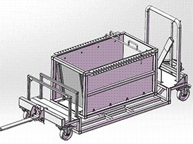 可旋转集装箱台车模型 gtak1005 通用格式 3D图纸 三维模型