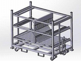中转台车 gtak1009 通用格式 3D图纸 三维模型