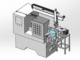 CNC机械手上下料设备 RBAE2017 Solidworks 格式 3D图纸 三维模型