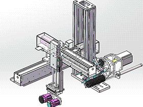 CNC上料机械手 RBAE2025 Solidworks 格式 3D图纸 三维模型