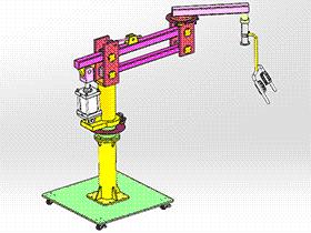 立柱可移动式助力机械手 RBAH1005 通用格式 3D图纸 三维模型