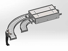 食品加工输送机清洗系统 SPJA2003 Solidworks 格式 3D图纸 三维模型