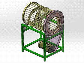 滚筒分级装置 3D模型 SPJA2006 Solidworks 格式 3D图纸 三维模型