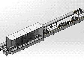 巧克力生产流水线(食品行业生产打包) SPJA2008 Solidworks 格式 3D图纸 三维模型