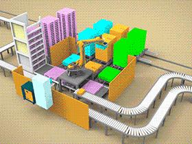 食品生产线机器人包装码垛方案 SPJA2011 Solidworks 格式 3D图纸 三维模型
