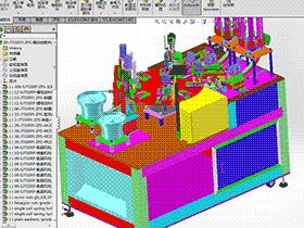 圆盘式晶体锁散热片组装机(螺母锁螺丝组装设备) sple1007 STEP格式 3D图纸 三维模型