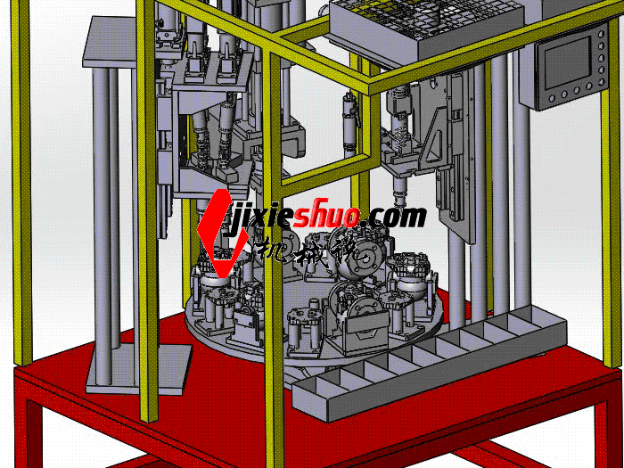 自动锁螺丝机组装设备 sple1008 STEP格式 3D图纸 三维模型