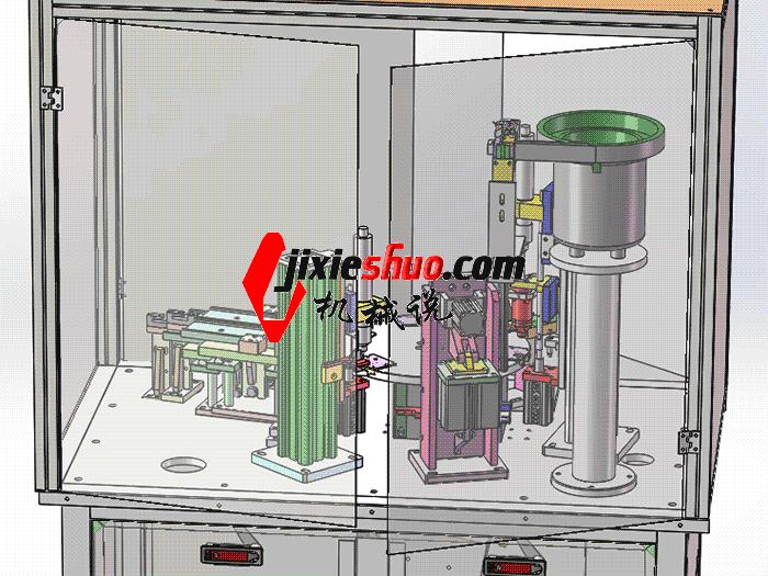转盘式自动锁螺丝机 sple3001 PROE CERO格式 3D图纸 三维模型