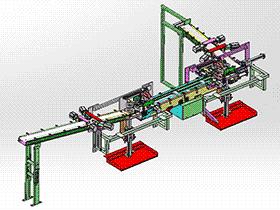 大型滚筒输送流水线 SPSA1017 Solidworks 格式 3D图纸 三维模型