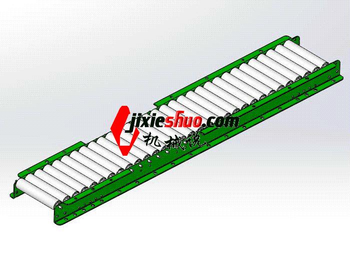 无动力滚筒 SPSA1018 通用格式 3D图纸 三维模型