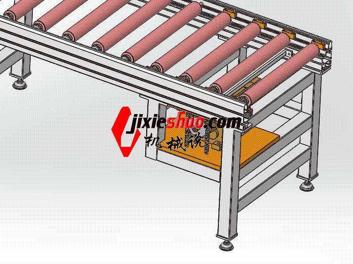 6m滚筒线宽700 SPSA1020 通用格式 3D图纸 三维模型