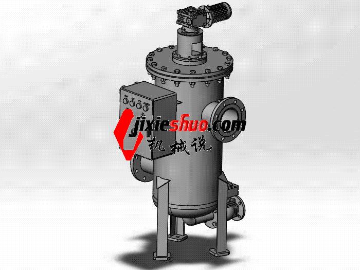 电动刷式自清洗过滤器 SPWB1017 通用格式 3D图纸 三维模型