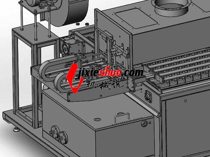 圆棒清洗机(已成熟生产)  SPWB1024 通用格式 3D图纸 三维模型
