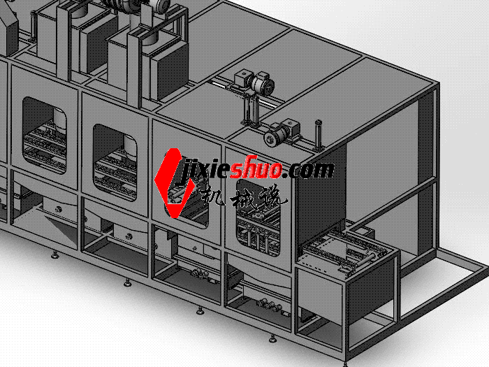 步进式清洗机 SPWB1025 通用格式 3D图纸 三维模型