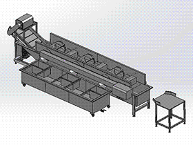 豆牙清洗机 SPWB2018 solidworks格式 3D图纸 三维模型