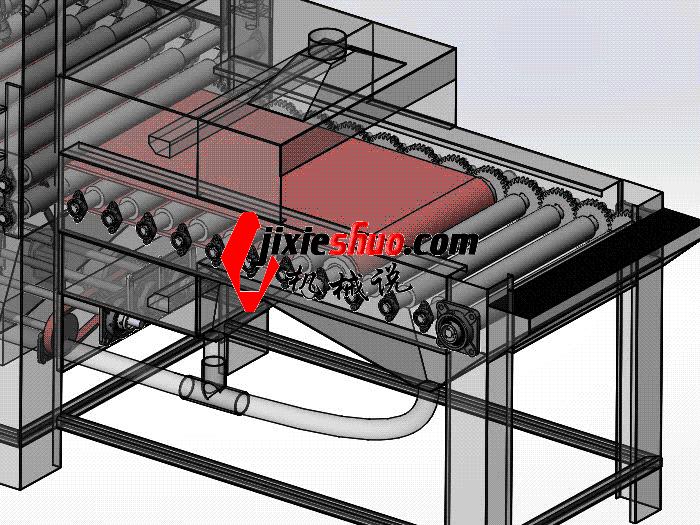 双面自动喷砂机 SPWC1003 通用格式 3D图纸 三维模型