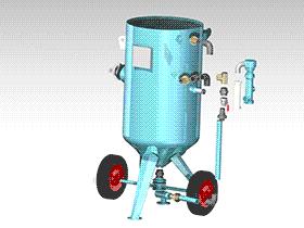 移动开放式喷砂机 SPWC1004 通用格式 3D图纸 三维模型