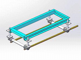 移动小车 ycaa0015 Solidworks STEP格式 3D图纸 三维模型