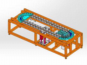循环输送链 ycaa0020 Solidworks STEP格式 3D图纸 三维模型