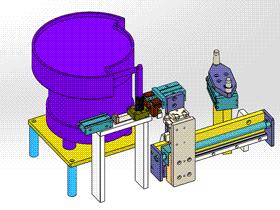 外卡簧送料機構 ycaa0022 Solidworks STEP格式 3D圖紙 三維模型