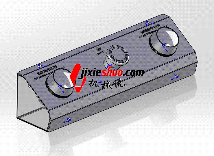 开关控制盒 ycab0006 STEP格式 3D图纸 三维模型