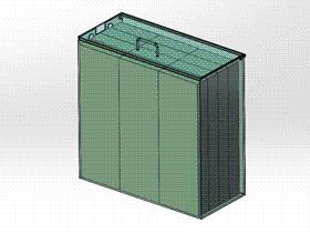 电池组箱子 ycab0009 STEP格式 3D图纸 三维模型
