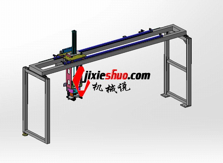 龙门式取料机械手带旋转轴 ycac0009 STEP格式 3D图纸 三维模型