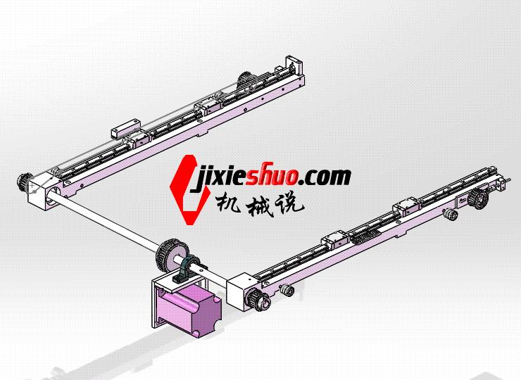 双边同步传动机构 ycac0016 STEP格式 3D图纸 三维模型