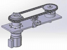 链轮传动组件 ycac0017 Solidworks STEP格式 3D图纸 三维模型