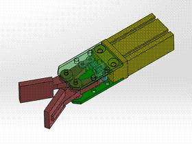 機械手指 氣動手爪 ycac0018 Solidworks STEP格式 3D圖紙 三維模型