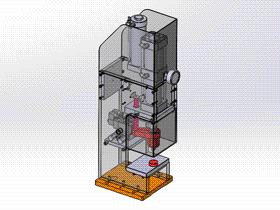壓裝機 ycae1001 Solidworks STEP格式 3D圖紙 三維模型