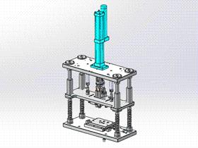 壓裝機 ycae1002 Solidworks STEP格式 3D圖紙 三維模型