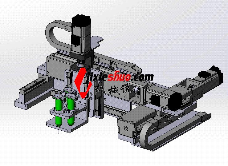 三轴点胶平台 ycaf0003 STEP格式 3D图纸 三维模型