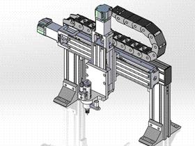 伺服点胶模组 ycaf0004 STEP格式 3D图纸 三维模型