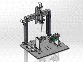 旋转工位点胶机 ycaf0005 STEP格式 3D图纸 三维模型