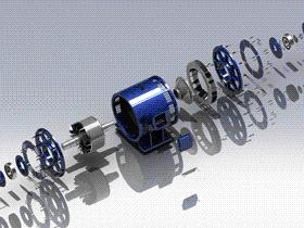 60KW特种电机 ycal0001 solidworks STEP格式 3D图纸 三维模型