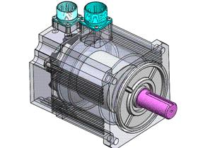 伺服电机装配 ycal0004 solidworks STEP格式 3D图纸 三维模型