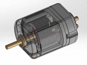 直流小电机装配 ycal0005 solidworks STEP格式 3D图纸 三维模型
