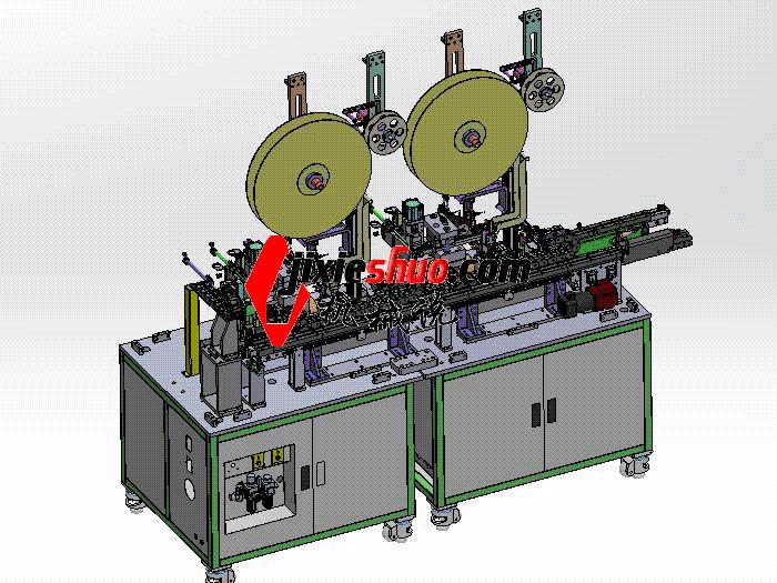 汽车链接器折弯裁切机 带工程图 zdcd2016 Solidworks 格式 3D图纸 三维模型