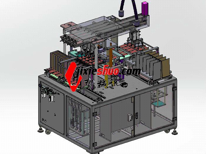 全自动双工位裁片机、电池设备厂极片裁切机 带工程图 zdcd2017 Solidworks 格式 3D图纸 三维模型