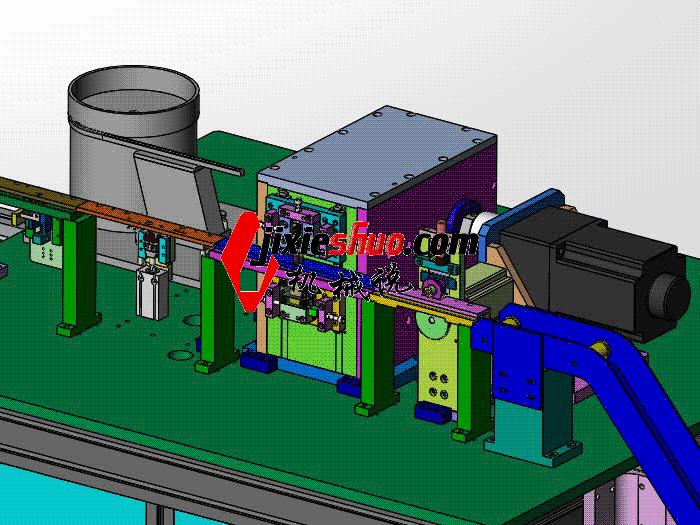 凸轮压入裁切机 zdcd2018 Solidworks 格式 3D图纸 三维模型