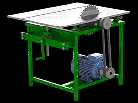 可调式台锯 zdcs2009 Solidworks 格式 3D图纸 三维模型