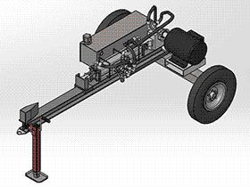 卧式液压木材分割机 劈木机 zdcs2010 Solidworks 格式 3D图纸 三维模型